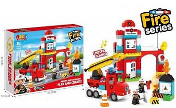 """Конструктор детский """"Пожарная станция"""" с звуком и светом (85 деталей) конструктор с крупными деталями"""