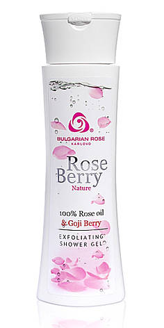 Отшелушивающий гель для душа Rose Berry Nature от Bulgarian Rose 200 мл, фото 2