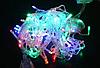 Гірлянда бахрома 100LED 2,2х0,6м з заглуш. прозорий провід RD-7164 | Новорічна вулична LED гірлянда, фото 2