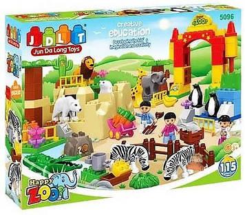 """Конструктор """"Зоопарк""""  115 деталей Конструктор для маленьких детей"""