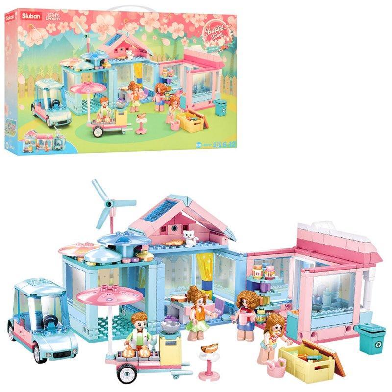 Детский блочный конструктор серии Розовая Мечта Детский конструктор Конструкторы для ребенка Конструктор для д