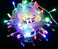 Гирлянда светодиодная Xmas LED 100 M-1 Мультицветная RGB COLOR, фото 1