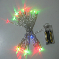 Гирлянда светодиодная Xmas LED 30 Battery M на батарейках Мультицветная, фото 1