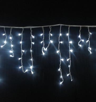 Гирлянда бахрома 120LED 4м Белый RD-7083 белый провод | Новогодняя светодиодная гирлянда уличная