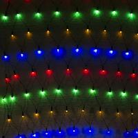 Гирлянда сетка разноцветная 200LED 2x2м RD-7163   Новогодняя LED гирлянда сетка мультицветная, фото 1