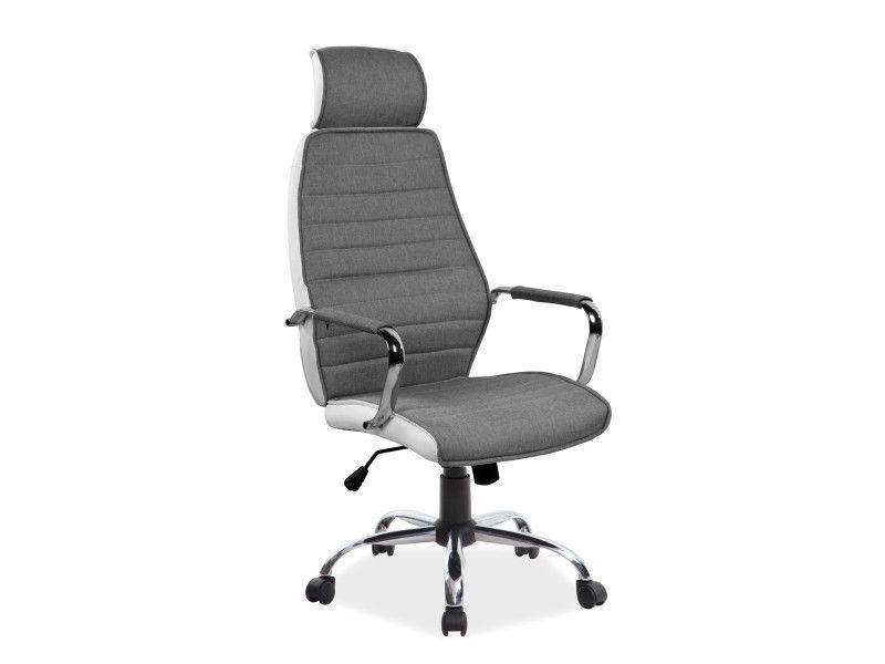 Кресло поворотное Signal Q-035 / Серый / Белый OBRQ035SZB