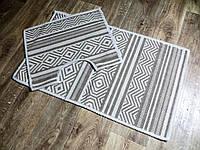 Набор ковриков для ванной и туалета. Хлопок. (Турция) 60Х100. 60100-42