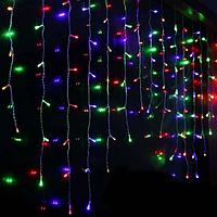 Гирлянда штора 144LED 2х2м RD-087 разноцветная | Новогодняя светодиодная уличная гирлянда, фото 1