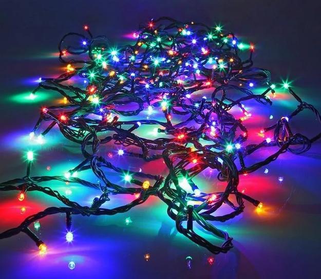 Гирлянда линза 100LED разноцветная RD-103 | Новогодняя уличная светодиодная гирлянда мультицветная