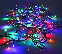 Гирлянда линза 100LED разноцветная RD-103 | Новогодняя уличная светодиодная гирлянда мультицветная, фото 1