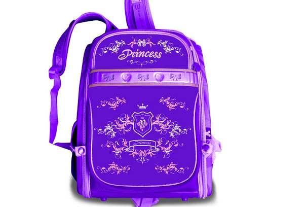 Рюкзак шкільний каркасний для дівчинки WILLY, 35 * 28 * 16 см