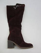 Распродажа 37 размер Зимние женские сапоги замша бордовая