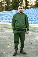 Чоловічий теплий трикотажний спортивний костюм Maks хакі (524)