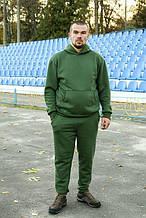 Мужской теплый трикотажный спортивный костюм Maks хаки (524) XL