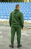 Чоловічий теплий трикотажний спортивний костюм Maks хакі (524), фото 2