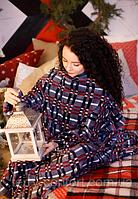 Плед с руковами мягкий + подушка махровая в подарок