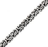 Цепь из серебра 925 пробы с чернением уникального плетения фокс, Fox (лисий хвост), фото 8