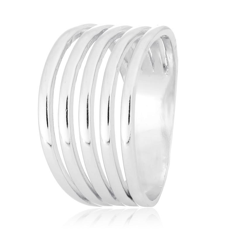 Серебряное кольцо  родированное К2/414А - 17,5