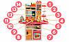 Детская кухня  вода, свет, звук, 65 предметов (высота 94 см) Детская кухня с посудой Игрушечная кухня, фото 5