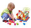 Музыкальная игрушка сортер Теремок со звуковыми и световыми эффектами Развивающая игрушка для детей, фото 3