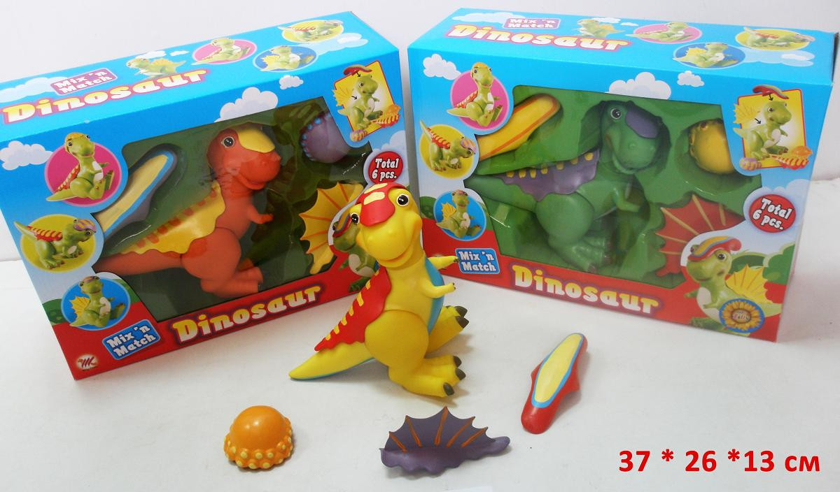 Динозавр с одежками Детский динозавр Динозавр игрушка