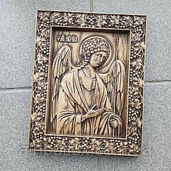 Икона резная из дерева. Архангел Михаил