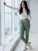 Женский теплые спортивные штаны фисташка  размер  XL