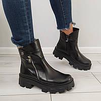 Ботинки женские черные натуральная кожа