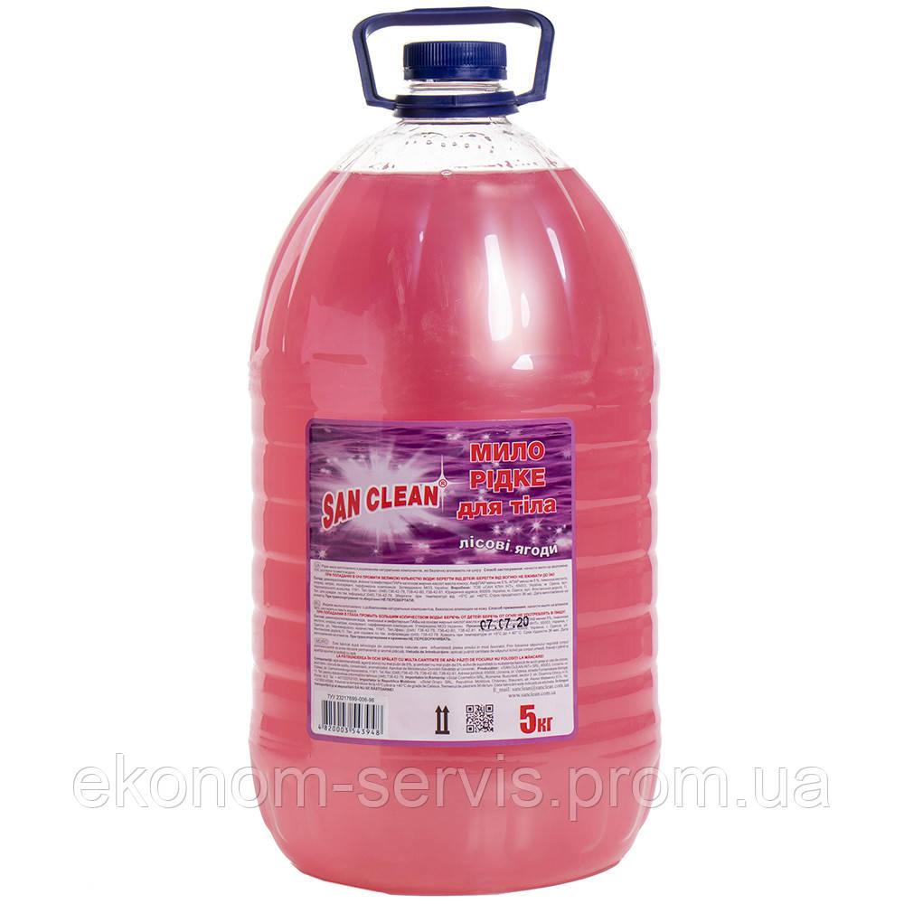 Мыло жидкое для тела Лесовые ягоды Сан Клин Эконом бутылка, 5 л.