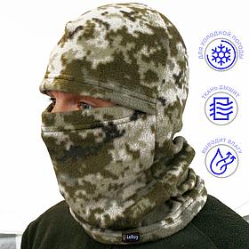 Шапка-маска LeRoy Балаклава Пиксель (зимняя, флис)