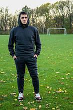 Мужской теплый трикотажный спортивный костюм Maks темно-серый меланж (534) S