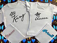 Семейные футболки с принтом - Королевская семья