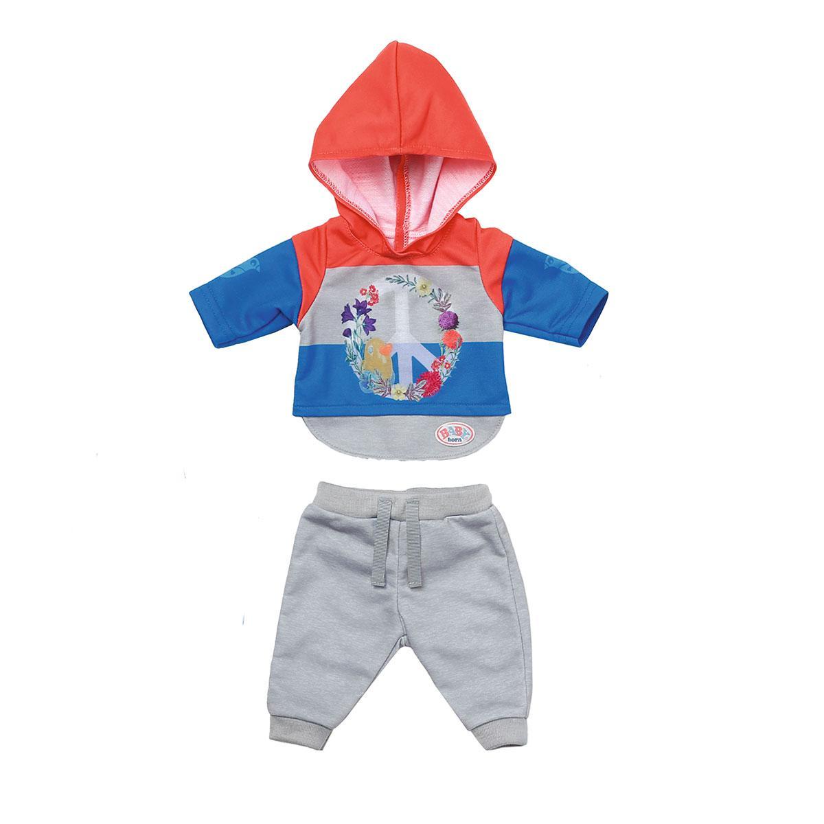 Набор одежды для куклы - Трендовый спортивный костюм (синий) Baby Born 826980-2
