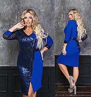 Женское яркое нарядное платье большого размера.Размеры:50/52,54/56,58/60+Цвета, фото 1