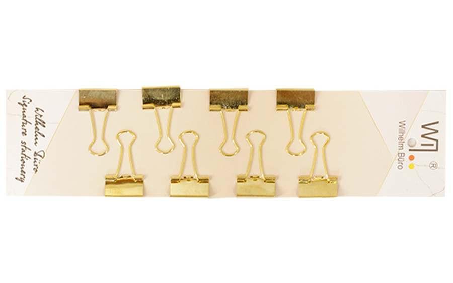Набір біндерів із 8 штук Wilhelm Buro 19мм золоті WB204