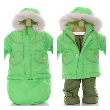 Зимний детский костюм-тройка (конверт+курточка+полукомбинезон) Детские зимние комбинезоны Комбинезон для детей
