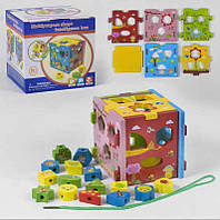 Деревянный логический куб С 39343