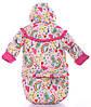 Зимний детский костюм-тройка (конверт+курточка+полукомбинезон) Детские зимние комбинезоны Комбинезон для детей, фото 2