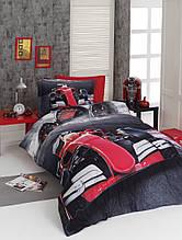 Комплект постельного белья сатин 3d First Choice полуторный размер Fast