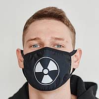 Маска на лицо Пушка Огонь Радиация