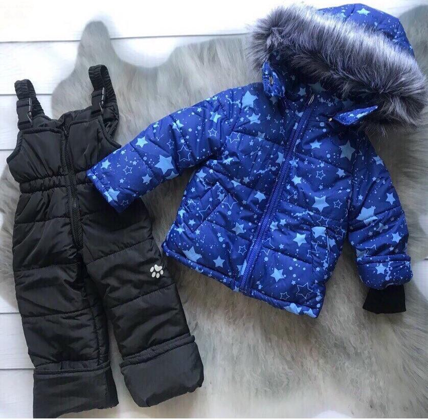 Зимний комбинезон 2-ка со съемным мехом Зимний детский комбинезон Зимний комбинезон для мальчика