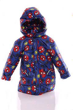 Куртка Евро для мальчика Spiderman синий