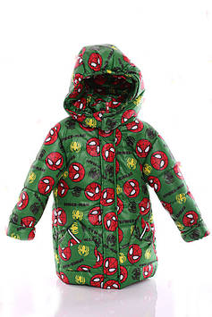 Куртка Евро для мальчика Spiderman зеленый