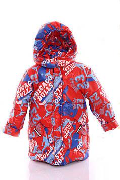 Куртка Евро для мальчика Chicago красный