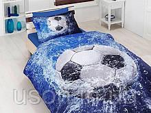 Комплект постельного белья сатин 3d First Choice полуторный размер Football