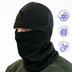 Шапка-маска LeRoy Балаклава Черная (зимняя, флис)