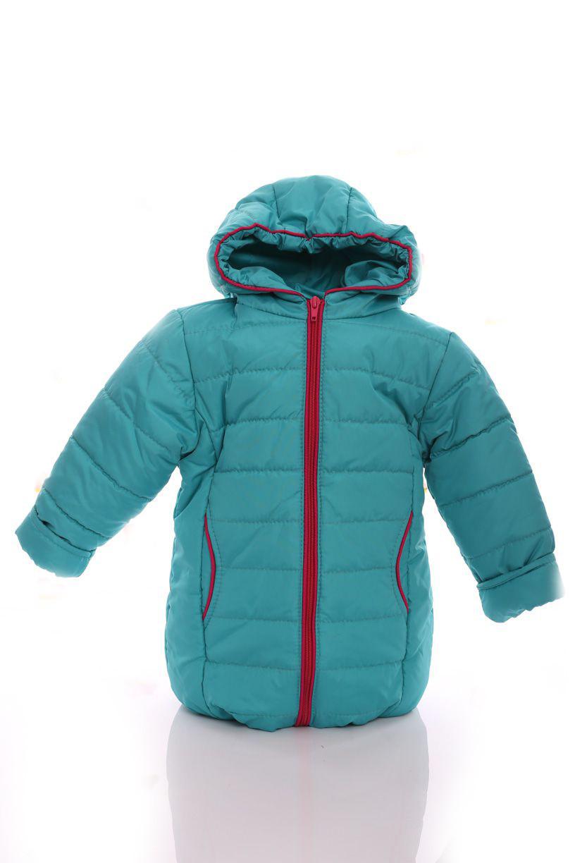 Куртка Евро для девочки бирюзовый с малиновым