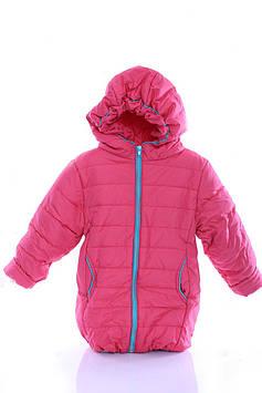 Куртка Евро для девочки коралловая с бирюзовым