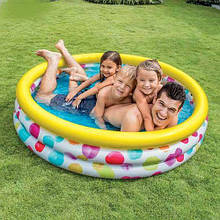 """Бассейн Intex """"Геометрия"""" размер 147*33 см, объём: 324 л Детский бассейн Бассейн для детей"""