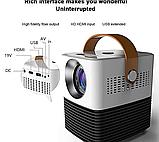 Мини светодиодный проектор DL-WL7 андроид WIFI / проектор для домашнего кинотеатра с HDMI USB WiFi Android, фото 7